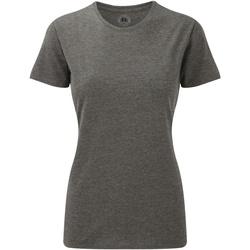 Abbigliamento Donna T-shirt maniche corte Russell 165F Grigio screziato