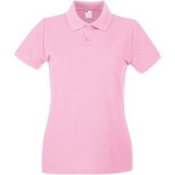 Abbigliamento Donna Polo maniche corte Universal Textiles 63030 Rosa chiaro