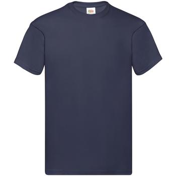 Abbigliamento Uomo T-shirt maniche corte Fruit Of The Loom SS12 Blu scuro