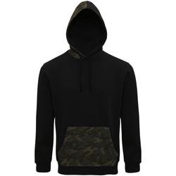 Abbigliamento Uomo Felpe Asquith & Fox AQ047 Nero/Verde mimetico