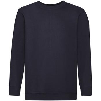 Abbigliamento Unisex bambino Felpe Fruit Of The Loom 62041 Blu scuro
