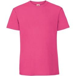 Abbigliamento Uomo T-shirt maniche corte Fruit Of The Loom 61422 Fucsia