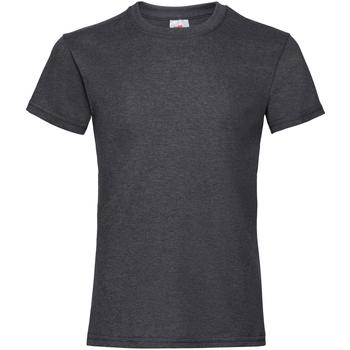 Abbigliamento Bambina T-shirt maniche corte Fruit Of The Loom Valueweight Grigio screziato scuro