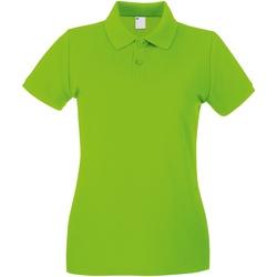 Abbigliamento Donna Polo maniche corte Universal Textiles 63030 Lime