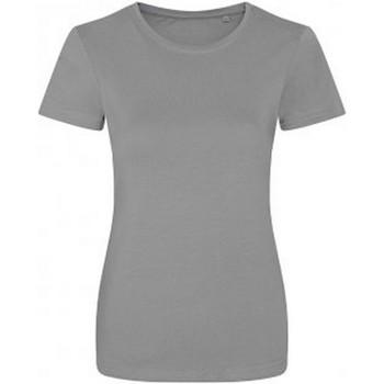 Abbigliamento Donna T-shirt maniche corte Ecologie EA01F Grigio screziato