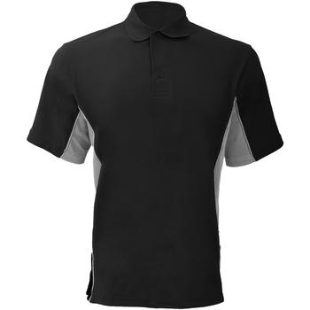 Abbigliamento Uomo Polo maniche corte Gamegear KK475 Nero/Grigio/Bianco