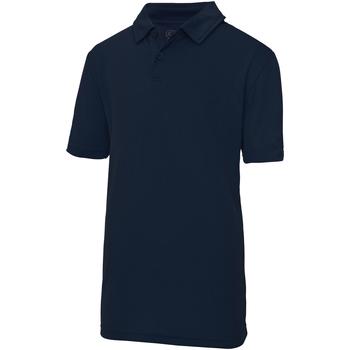 Abbigliamento Unisex bambino Polo maniche corte Awdis JC40J Blu scuro