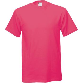Abbigliamento Uomo T-shirt maniche corte Universal Textiles 61082 Rosa acceso