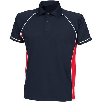 Abbigliamento Unisex bambino Polo maniche corte Finden & Hales LV372 Blu navy/Rosso/Bianco