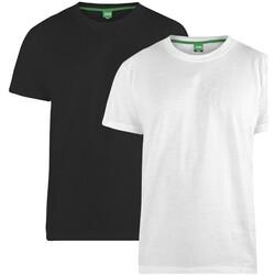 Abbigliamento Uomo T-shirt maniche corte Duke  Nero/Bianco