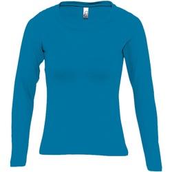 Abbigliamento Donna T-shirts a maniche lunghe Sols Majestic Azzurro acqua