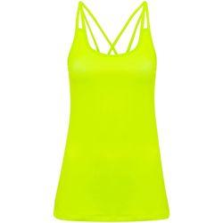 Abbigliamento Donna Top / T-shirt senza maniche Tridri TR029 Giallo neon
