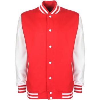 Abbigliamento Uomo Giubbotti Fdm FV001 Rosso/Bianco