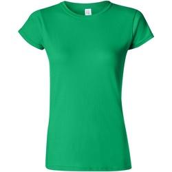 Abbigliamento Donna T-shirt maniche corte Gildan Soft Verde irlandese