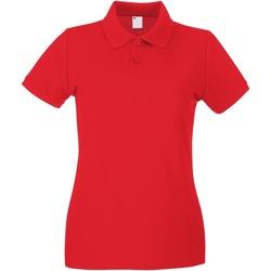 Abbigliamento Donna Polo maniche corte Universal Textiles 63030 Rosso brillante