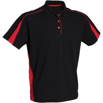 Abbigliamento Donna Polo maniche corte Finden & Hales LV391 Nero/Rosso