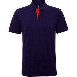 Abbigliamento Uomo Polo maniche corte Asquith & Fox AQ012 Blu Navy/Rosso
