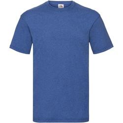 Abbigliamento Uomo T-shirt maniche corte Fruit Of The Loom 61036 Erica blu retrò