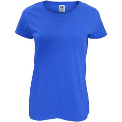 Abbigliamento Donna T-shirt maniche corte Fruit Of The Loom 61420 Blu reale