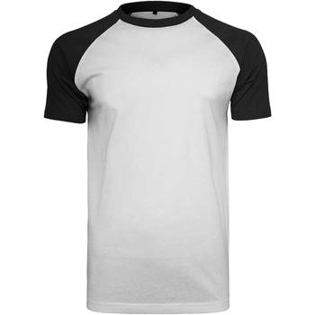 Abbigliamento Uomo T-shirt maniche corte Build Your Brand BY007 Bianco/Nero