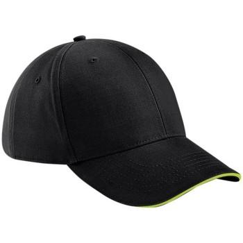 Accessori Cappellini Beechfield B20 Nero/Verde Lime
