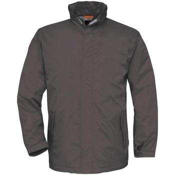 Abbigliamento Uomo giacca a vento B And C BA675 Grigio scuro