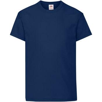 Abbigliamento Unisex bambino T-shirt maniche corte Fruit Of The Loom 61019 Blu scuro