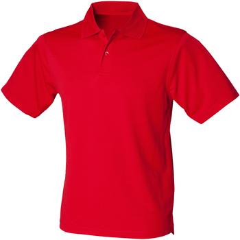 Abbigliamento Uomo Polo maniche corte Henbury HB475 Rosso Classico