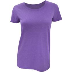 Abbigliamento Donna T-shirt maniche corte Bella + Canvas BE8413 Purple Triblend