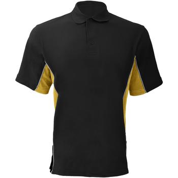 Abbigliamento Uomo Polo maniche corte Gamegear KK475 Nero/Giallo/Bianco