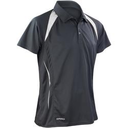 Abbigliamento Uomo Polo maniche corte Spiro S177M Nero/Bianco