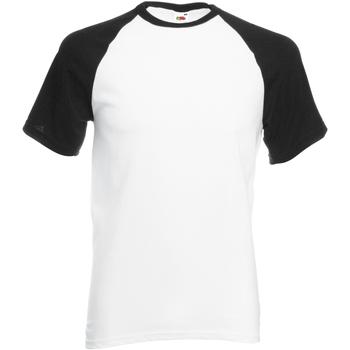 Abbigliamento Uomo T-shirt maniche corte Fruit Of The Loom 61026 Bianco/Nero