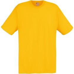 Abbigliamento Uomo T-shirt maniche corte Universal Textiles 61082 Giallo dorato