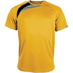 Abbigliamento Uomo T-shirt maniche corte Kariban Proact PA436 Giallo/Nero/Grigio