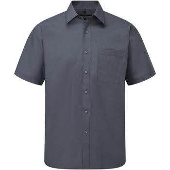 Abbigliamento Uomo Camicie maniche corte Russell 935M Grigio convoglio