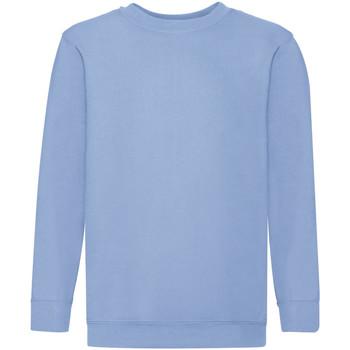Abbigliamento Unisex bambino Felpe Fruit Of The Loom 62041 Azzurro cielo