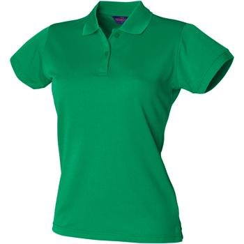 Abbigliamento Donna Polo maniche corte Henbury Coolplus Verde kelly