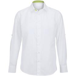 Abbigliamento Uomo Camicie maniche lunghe Alexandra Hospitality Bianco/Lime