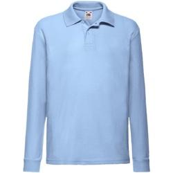 Abbigliamento Bambino Polo maniche lunghe Fruit Of The Loom 63201 Azzurro cielo
