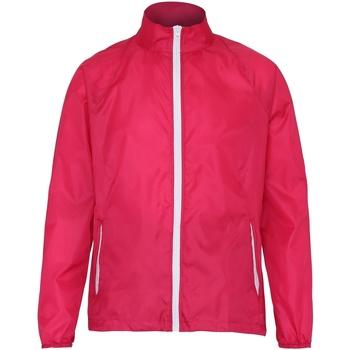 Abbigliamento Uomo giacca a vento 2786  Rosa/Bianco