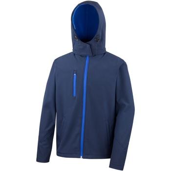 Abbigliamento Uomo giacca a vento Result R230M Blu Navy/Blu Reale