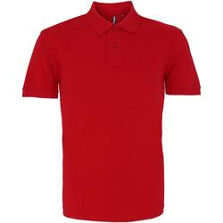 Abbigliamento Uomo Polo maniche corte Asquith & Fox AQ010 Rosso Cardinale