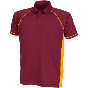 Abbigliamento Uomo Polo maniche corte Finden & Hales Piped Bordeaux/Ambra/Ambra