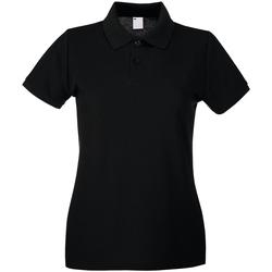 Abbigliamento Donna Polo maniche corte Universal Textiles 63030 Nero
