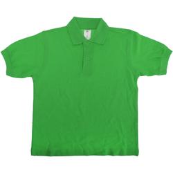 Abbigliamento Unisex bambino Polo maniche corte B And C PK486 Verde