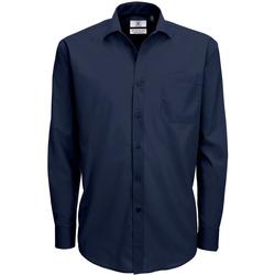 Abbigliamento Uomo Camicie maniche lunghe B And C SMP61 Blu navy