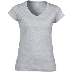 Abbigliamento Donna T-shirt maniche corte Gildan Soft Style Grigio sportivo