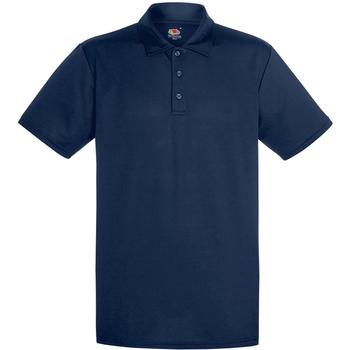 Abbigliamento Uomo Polo maniche corte Fruit Of The Loom 63038 Blu scuro