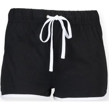 Abbigliamento Donna Shorts / Bermuda Skinni Fit SK069 Nero/Bianco