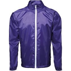 Abbigliamento Uomo giacca a vento 2786 TS011 Viola/Bianco